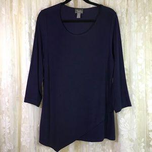 Chico's Travelers Purple Tunic Shirt